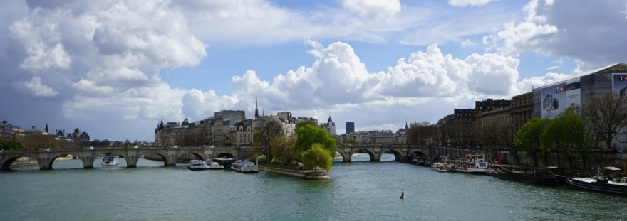 La Seine depuis le pont des Arts