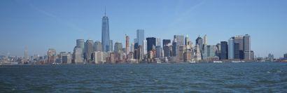 Manhattan depuis le ferry pour Ellis Island