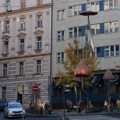 A Prague aussi l'art contemporain revêt parfois des formes assez surprenantes